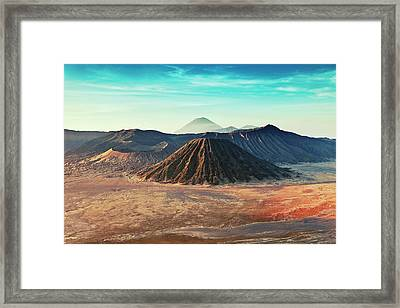 Mt. Bromo, Indonesien Close-up Framed Print by Daniel Osterkamp