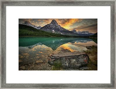 Mt Chephren Sunset Framed Print by Howard Kilgour