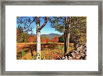 Mt. Chocorua Autumn Horizontal Framed Print by Larry Landolfi