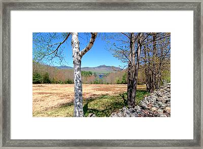 Mt. Chocorua Spring Horizontal Framed Print by Larry Landolfi