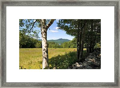 Mt. Chocorua Summer Horizontal Framed Print by Larry Landolfi