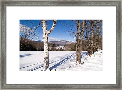Mt. Chocorua Winter Horizontal Framed Print by Larry Landolfi
