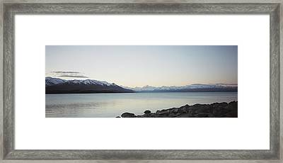 Framed Print featuring the photograph Mt Cook From Lake Pukaki by Peter Mooyman
