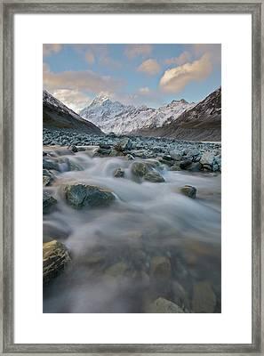 Mt Cook Stream Framed Print by Sven Klerkx