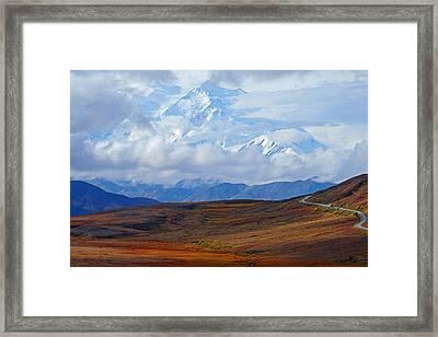 Mt. Mckinley Framed Print by Alan Lenk