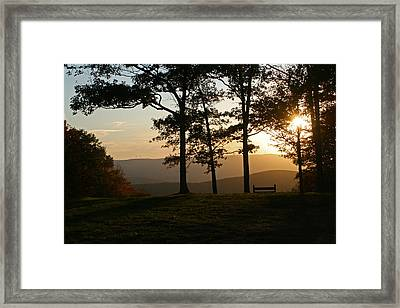 Mt Pisqah Sunset 2 Framed Print