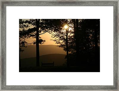 Mt Pisqah Sunset Framed Print