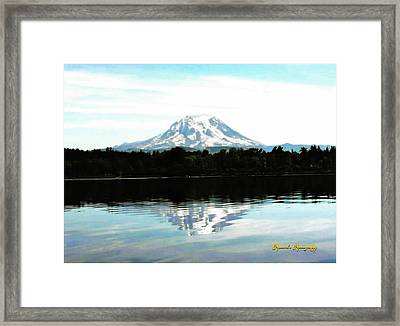 Framed Print featuring the photograph Mt. Rainier On A Summer Day by Sadie Reneau