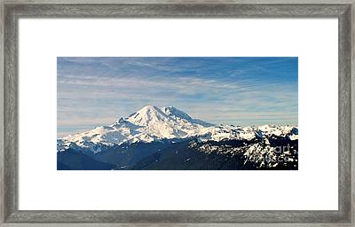 Mt Rainier Panoram Framed Print