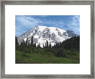 Mt Rainier Paradise Framed Print by Angie Vogel