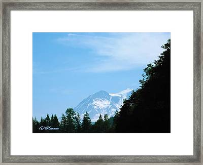 Framed Print featuring the photograph Mt Rainier Peeking by Sadie Reneau
