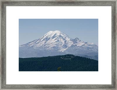 Mt. Rainier Seen From The Yakima Valley Framed Print by Sisse Brimberg