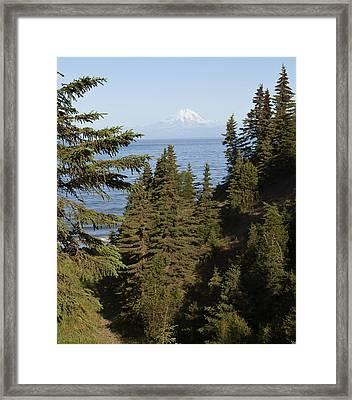 Mt Redoubt Framed Print by George Hawkins