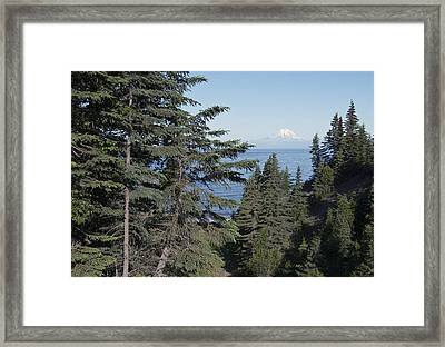 Mt. Redoubt View Framed Print