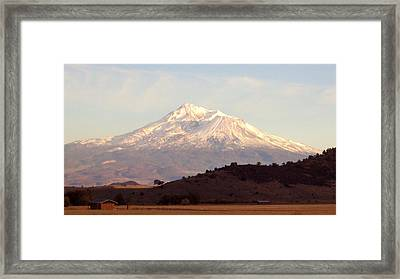 Mt. Shasta Framed Print by Deborah Weber