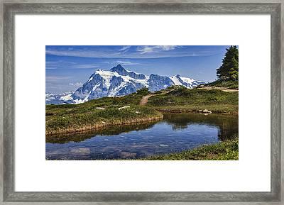 Mt Shuksan Framed Print by A A