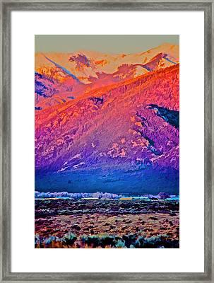 Mt Wheeler At Sunset Framed Print