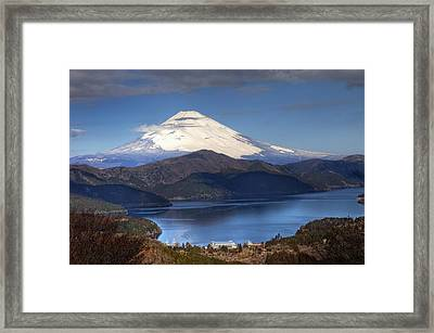 Framed Print featuring the photograph Mt.fuji And Lake Ashinoko-ii by Tad Kanazaki