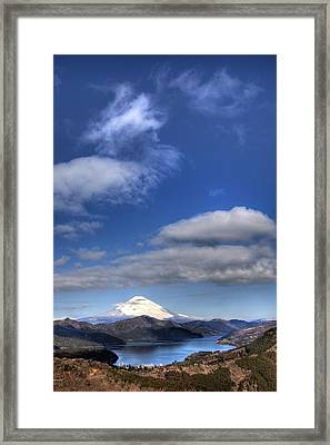 Framed Print featuring the photograph Mt.fuji And Lake Ashinoko by Tad Kanazaki