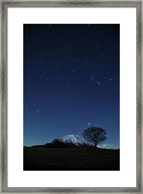 Mt.fuji In Winter Framed Print by Takeshi.K