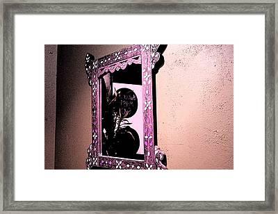 Framed Print featuring the photograph Mubarak Must Go Reflected And Semi-veiled by Carolina Liechtenstein