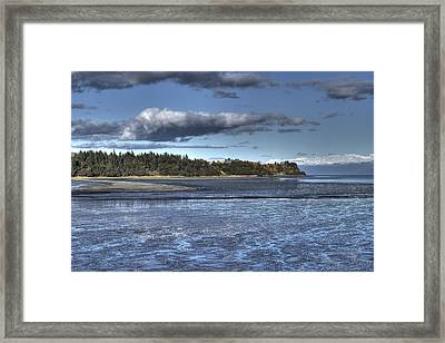Framed Print featuring the photograph Mud Bay  by Michele Cornelius