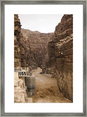 Mud Filled Storm Water Scours Framed Print by Taylor S. Kennedy