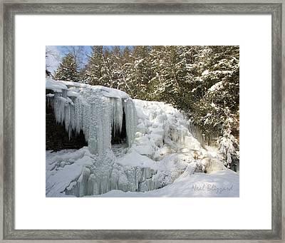 Muddy Creek Falls Framed Print by Neal Blizzard