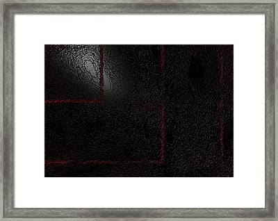 Framed Print featuring the digital art Muddy by Jeff Iverson