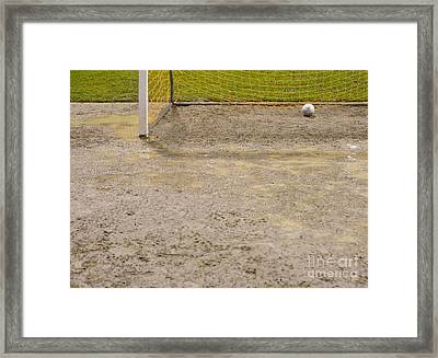 Muddy Soccer Field Framed Print