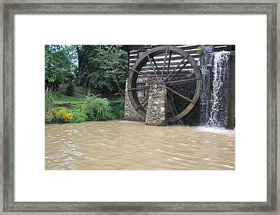 Muddy Water After The Rain Framed Print by Jan Amiss Photography