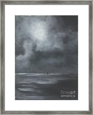 Mudflat Hiking Framed Print by Annemeet Hasidi- van der Leij
