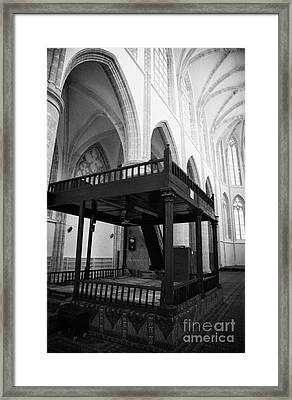 Muezzin Mahfili Raised Platform In Lala Mustafa Pasha Mosque Framed Print by Joe Fox