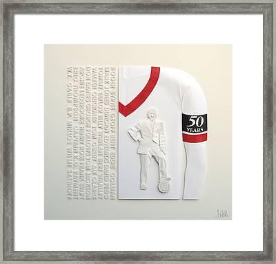 Mufc Munich Crash 50 Year Anniversry Framed Print by John Hebb