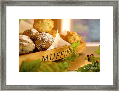 Muffins Fresh And Warm Framed Print
