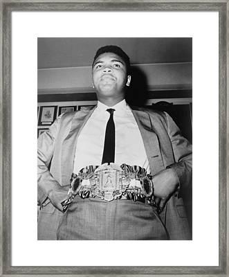 Muhammad Ali B. 1942, Displays The Framed Print by Everett