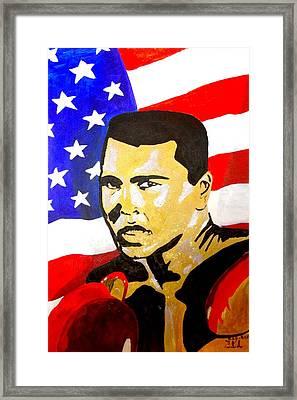 Muhammad Ali Framed Print by Estelle BRETON-MAYA