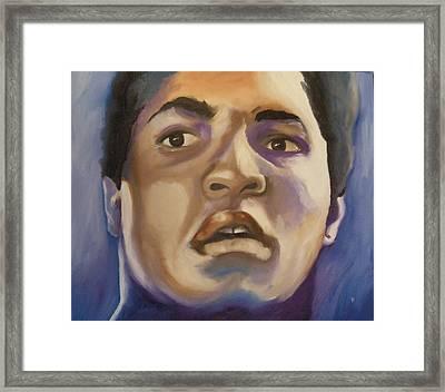 Muhammad Ali Framed Print by Matt Burke