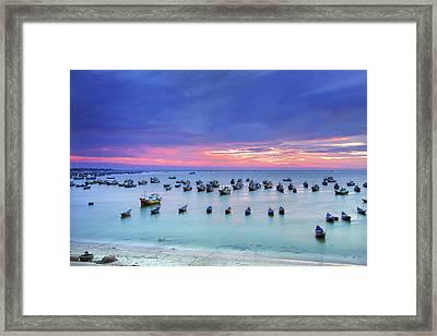 Mui Ne Is Coastal Resort Town Framed Print by Simonlong
