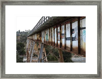 Muir Railroad Trestle In Martinez California . 7d10237 Framed Print by Wingsdomain Art and Photography