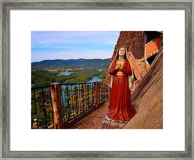 Mujer De La Piedra Framed Print by Skip Hunt