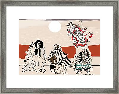 Mukikabuki Theatre Framed Print by Susie Morrison