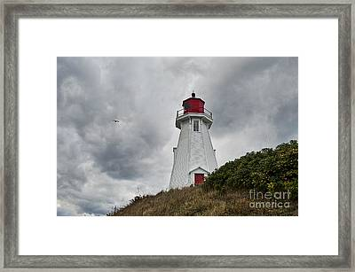 Mulholland Lighthouse Canada Framed Print by John Greim