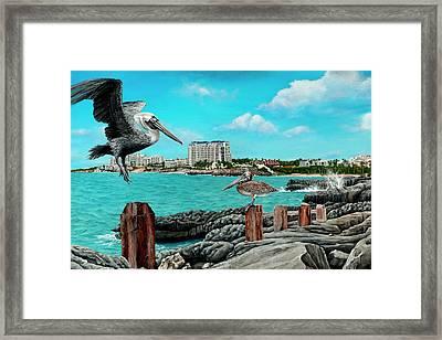 Mullet Bay Framed Print by Cindy D Chinn