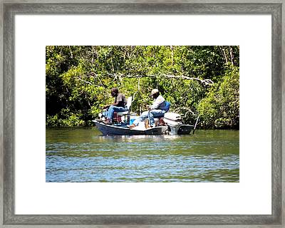 Mullet Fishing Framed Print by Marilyn Holkham