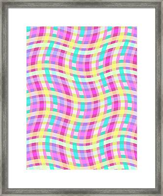 Multi Check Framed Print by Louisa Knight