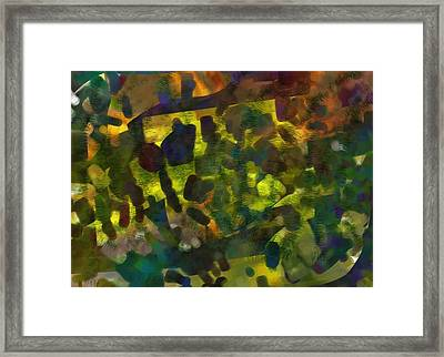Multi-colored Abstract Framed Print by Christine Crawford