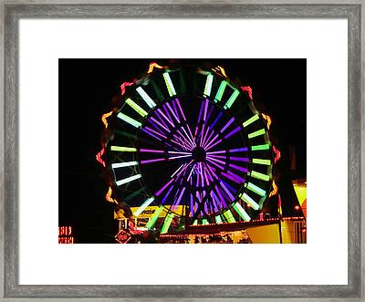Multi Colored Ferris Wheel Framed Print by Kym Backland