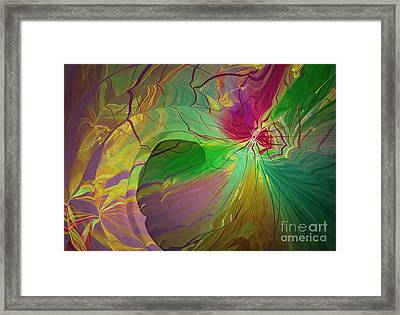 Multi Colored Rainbow Framed Print by Deborah Benoit