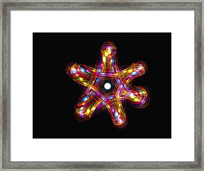 Multicoloured Lights Framed Print by Lawrence Lawry